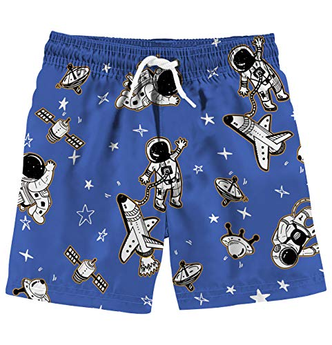 (Uideazone Boys 3D Printed Space Swim Trunks Waterproof Quick Dry Beach Wear Bating Suits for Summer)