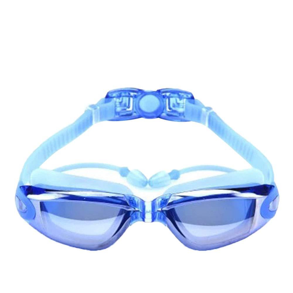 Letu Occhiali Da Nuoto, Tappi Per Le Orecchie Per Occhiali Da Nuoto Per Adulti Maschi Femmine E Bambini, Nessuna Perdita, Anti-Appannamento, Anti-Uv,blue