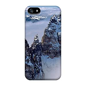 Premium Mountain Peaks Above Clouds Heavy-duty Protection Case For Iphone 5/5s