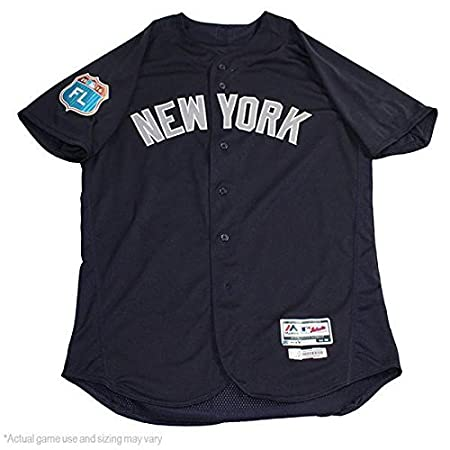 813d3cdcc Starlin Castro New York Yankees 2017 Spring Training Road Game Used  14  Jersey (JC003150)(48) at Amazon s Sports Collectibles Store