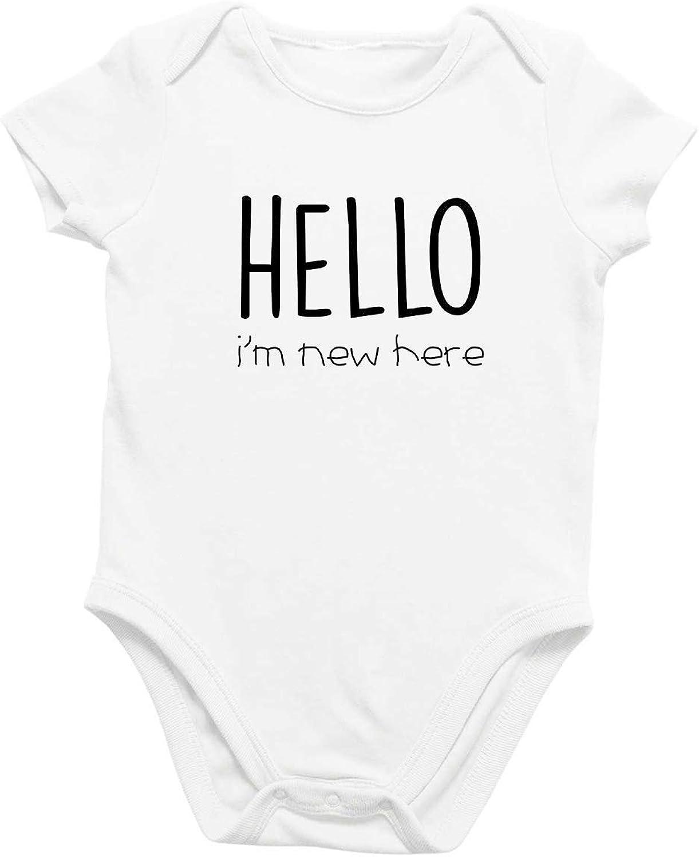 "Cute /""Hi I/'m/"" Name Personalized Bodysuit Creeper BOY Infant Baby Clothing"