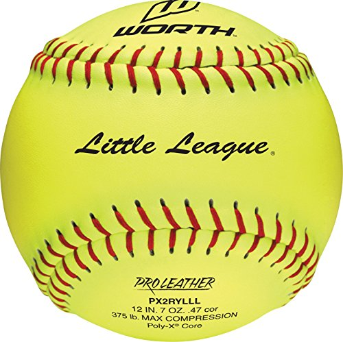 tle League Pro Leather Soft Balls, 12