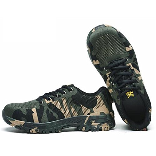 RuiSen Unisex Camouflage Labor Insurance Shoes, Work Safety Shoes Puncture Proof Safety Shoes Outdoor Shoes with Lace-up Breathable Wear-Resistant Anti-Slip (39/24.5cm) by RuiSen (Image #1)