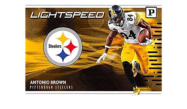 97061004118 Amazon.com  2018 Panini Football Lightspeed  11 Antonio Brown Pittsburgh  Steelers NFL Trading Card  Collectibles   Fine Art
