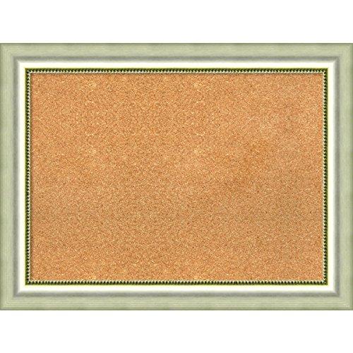 Amanti Art DSW3979247 Framed Cork Board, 33'' x 25'', Vegas Curved Silver by Amanti Art