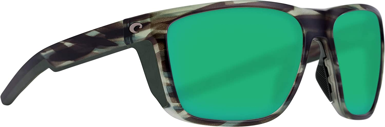 Costa Helo Sunglasses Matte Black Frame-Blue Mirror 580 Poly Polarized Lenses Costa Del Mar