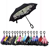 Aweoods Double Layer Inverted Umbrella Cars Reversible Umbrella (Gardenia)