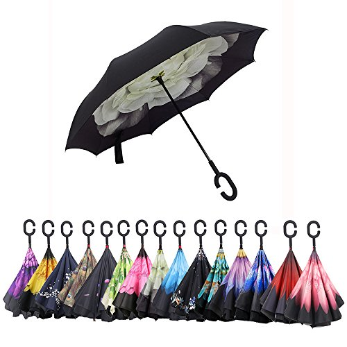 Aweoods Inverted Umbrella Reversible Gardenia