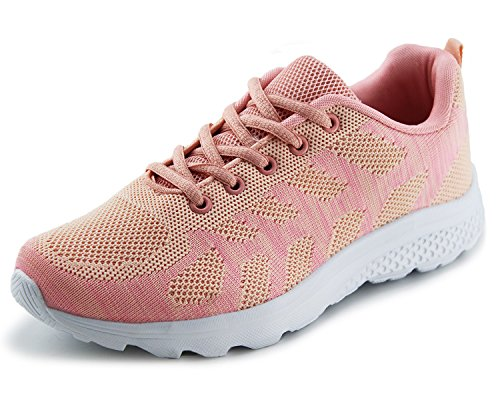 Image of Jabasic Women's Breathable Knit Sports Running Shoes Casual Walking Sneaker