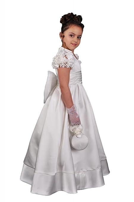Jessidress Vestido de Comunion Vestido de Arra Ceremonia Fiestas Boda Model Esme 6 años