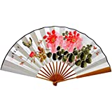 Oriental Style Folding Fan Hand Fan Handfan Handheld Fan Perfect Gift, T