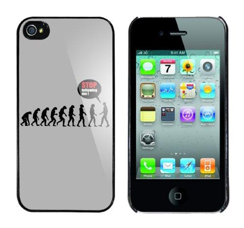 Iphone 4 Case Stop following me Evolution Rahmen schwarz