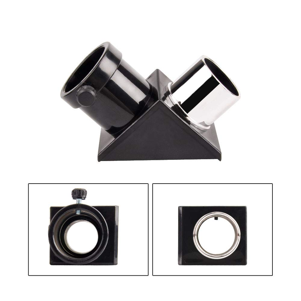 1.25'' 90-Degree Diagonal Mirror - More Comfortable Viewing Orientation as You Observe from Above, Filter Thread for Any 1.25'' Filter and Accepts Standard 1.25'' eyepieces by GazerOptics