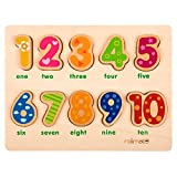 10 Numbers Preschool Early Educational Development Wooden Puzzles, Birthday Gift Toy for Age - Best Reviews Guide