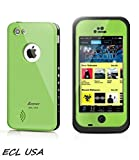 E.C.L USA iPhone 5C Case, Waterproof Dirtproof Shockproof Durable Hard Cover Case For Apple iPhone 5C All Carreires (Green Apple)