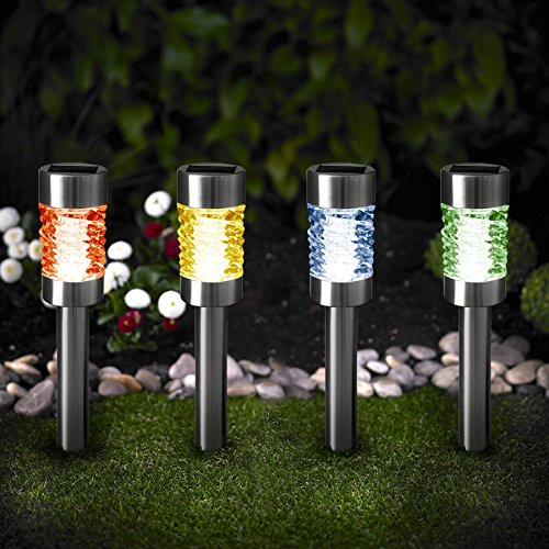 Upgraded Solar Powered Stainless Steel Landscape Lawn Pat...