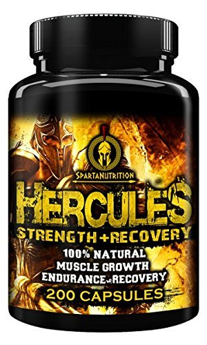 Hercules, Strength + Recovery, 100% Natural, Muscle Growth, Endurance Recovery by Sparta Nutrition - 200 Caps