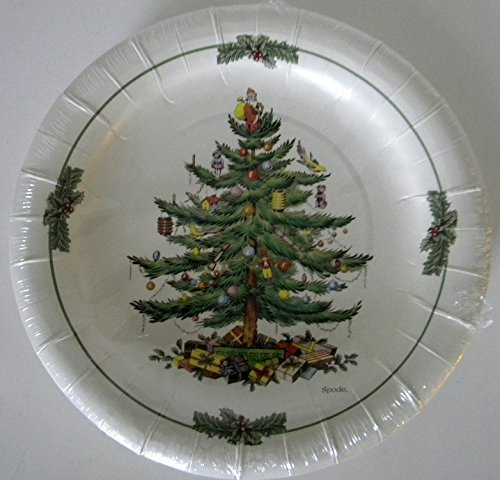 Spode Paper Christmas Tree Luncheon/dessert Plates 16 Cnt
