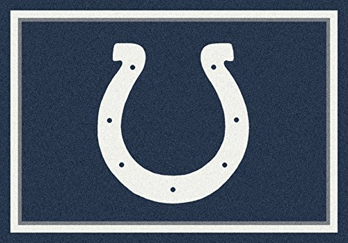 Indianapolis Colts Nfl Rug - Indianapolis Colts NFL Team Spirit Area Rug by Milliken, 7'8