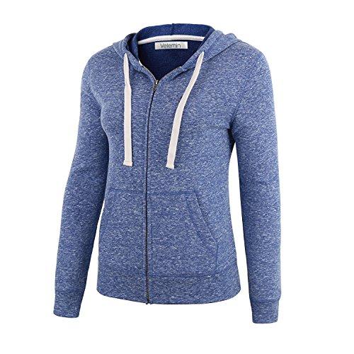 [해외]Vetemin 여성 기본 소프트 짚업 테리 긴 소매 주머니 스웨터 자켓/Vetemin Women Basic Soft Zip Up Terry Long Sleeve Pocket Hoodies Sweater Jacket