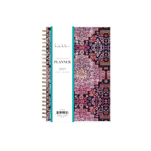 Nicole Miller for Blue Sky 2019 Weekly & Monthly Planner, Flexible Cover, Twin-Wire Binding, 5