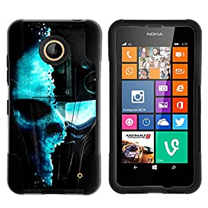 MINITURTLE Case Compatible w/ Lumia 635, Lumia 630, Dual Layer Shell STRIKE Impact Stand Case w/ Unique Graphic Images for Nokia Lumia 635, 630 (AT&T, Sprint, T Mobile, Cricket, Virgin Mobile, Boost Mobile, MetroPCS) Demon Cyborg