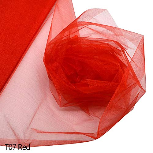 Best Quality - Party Decorations - 48cmx5m Voile Yarn Crystal Tulle Roll Sheer Organza Gauze Element for Birthday Wedding Party Arch Tulle Fabric Decoration - by Olwen Shop - 1 PCs