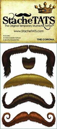 StacheTATS The Corona Temporary Mustache Tattoo]()