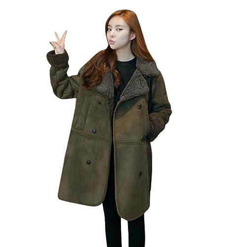 Abrigo mujer, Amlaiworld Mujer de manga larga invierno cálido abrigo chaqueta talla grande /M-5XL