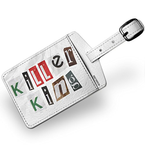 Luggage Tag Killer King Ransom Blackmail Letter - NEONBLOND