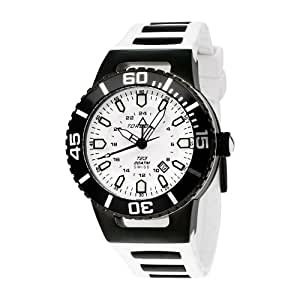 Torgoen Swiss Men's T23304 T23 White 20 ATM GMT Dive Watch