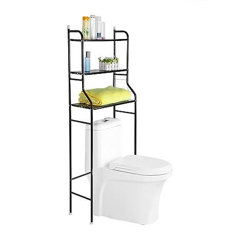 Amazon.com: Bathroom Shelf Space Saver, 3-Tier Iron Toilet Towel ...
