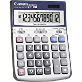 Canon HS-1200TS 12-Digit Angled Display Calculator - 12 Character(s) - LCD - Battery/Solar Powered - 1.4'' x 4.8'' x 6.7'' - Black, White