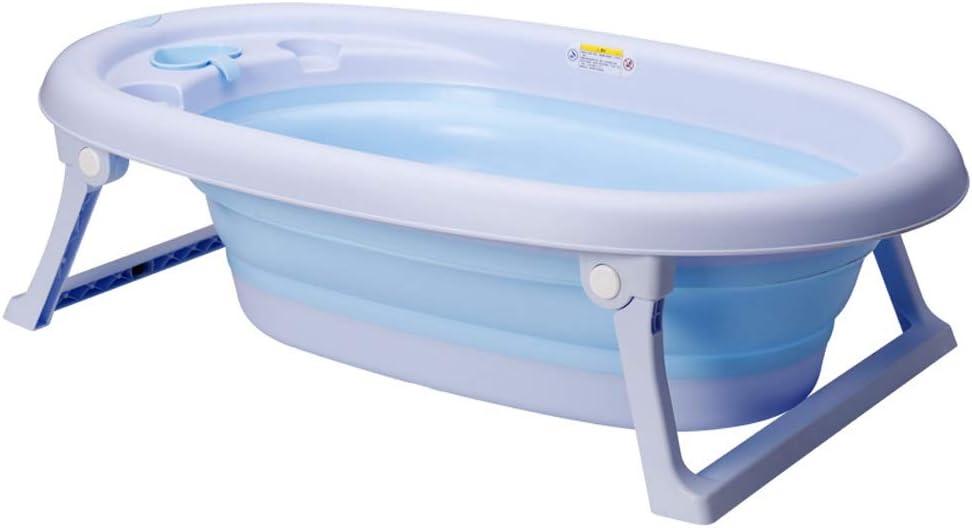 GYF バスタブ 折り畳み式ベビータブ 浴槽を使用する0〜6歳の子供に適しています 男の子と女の子のバスタブ 折りたたみ式収納 安定して揺れない 89X52X23CM (Color : Purple)