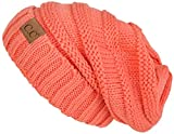 Funky Junque H-6100-52 Oversized Slouchy Beanie - Coral