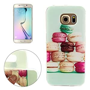Macaron Pattern TPU Protective Case for Samsung Galaxy S6 Edge / G925