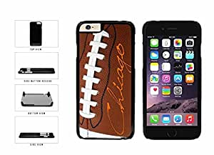 Chicago on Detailed Football Plastic Phone Case Back Cover Apple iphone 5c ( es screen) includes fashion case Cloth and Warranty Label