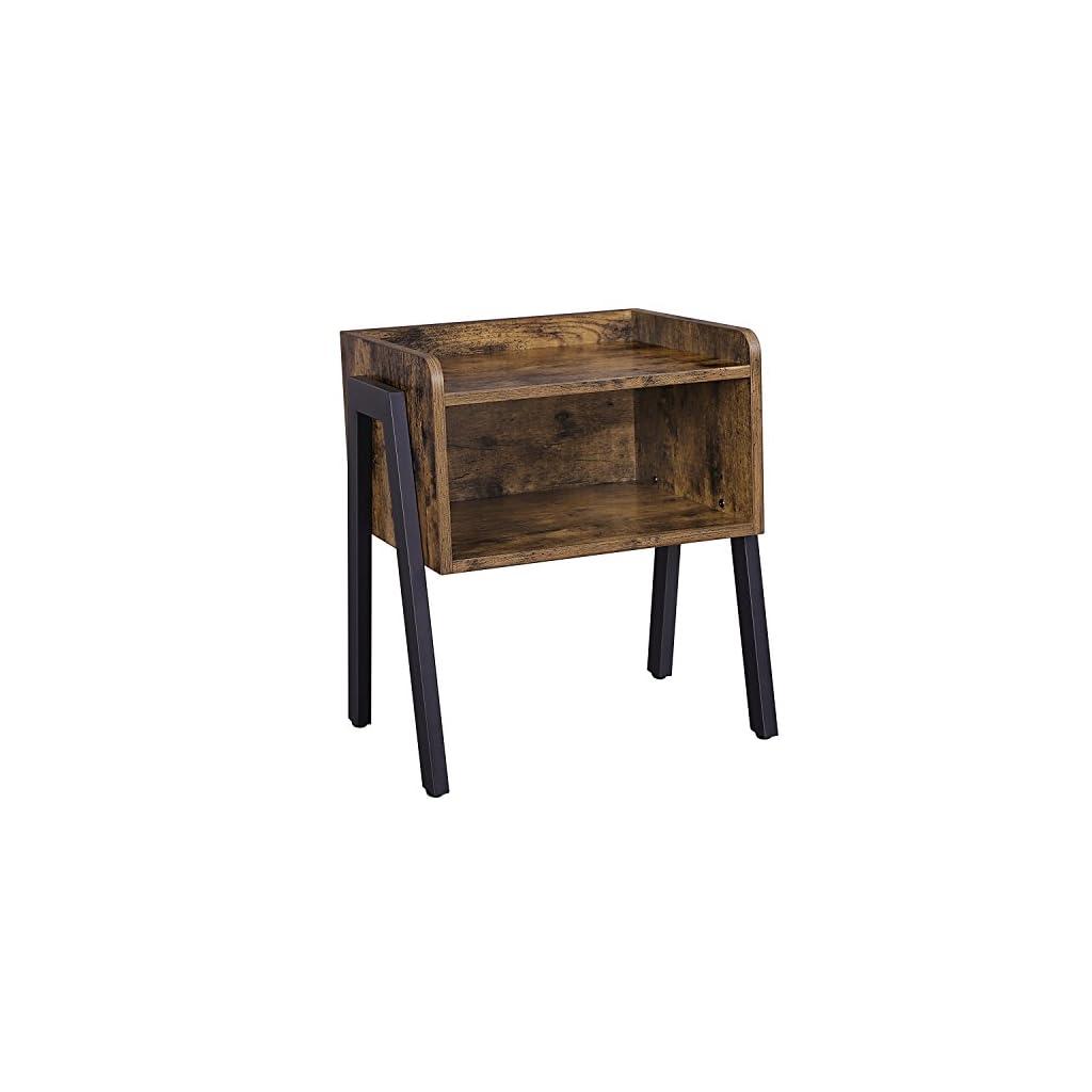 VASAGLE Side Table Industrial Nightstand