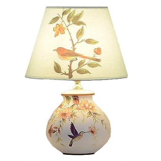 LJFYMX Lámpara de Mesa Lámpara de Porcelana - Lámpara de ...