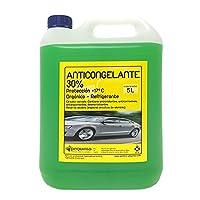 Anticongelante 30% -17ºC Orgánico.Envase 5 Litros. Color verde. Listo al uso. Apto para vehiculos, circuitos cerrados y refrigeración.