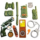 TukTek Kids First 12 Piece Elite Force Military Play Toy Gun Toy w/ Pretend Pistol and Accessories for Boys & Girls