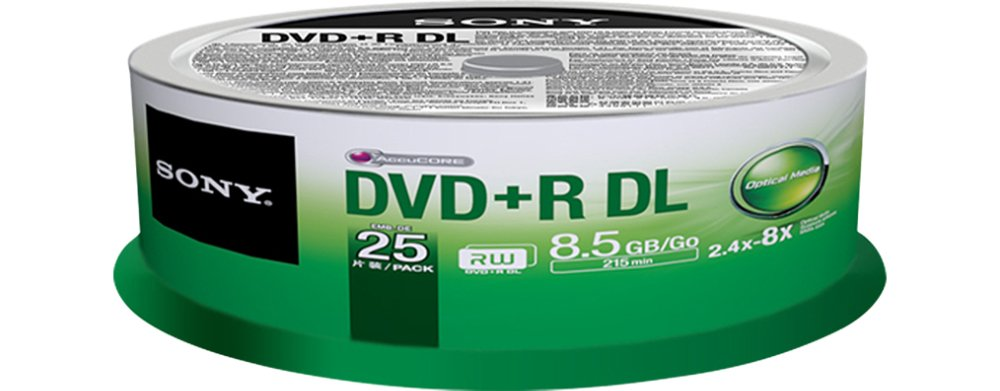 Sony DVD+R 8.5Gb Dual Layer Spindle 25 - 25DPR85SP