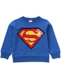 Tsyllyp Girls Boys Children Magic Sequin Hoodie Sweatshirt Cotton Pullover Top