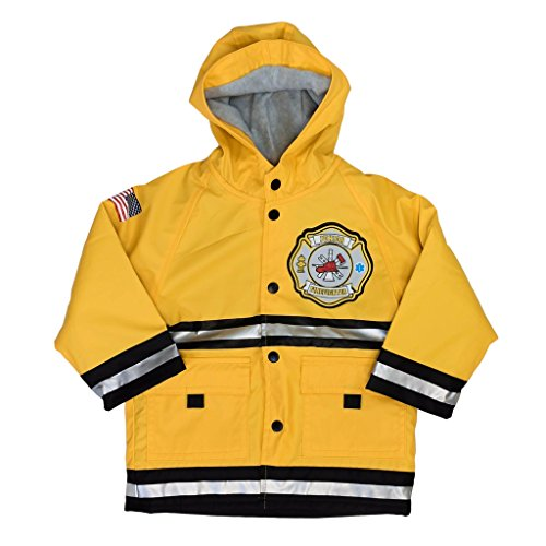 Western Chief Firefighter Fire Department Hero Raincoat for Boys (2T, Yellow (Junior Firefighter))