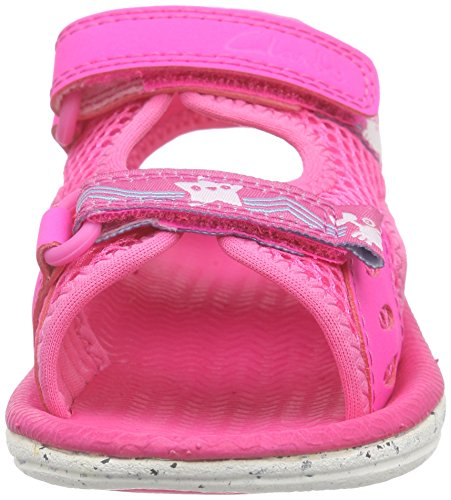 Clarks Kids Star Games Fst - Zapatillas de running Niños Rosa (Pink)