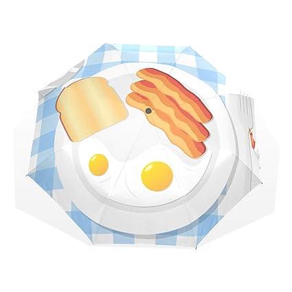 b9282f30ce8d Amazon.com: Suns Umbrella Appetizing Delicious Breakfast Fried Egg ...