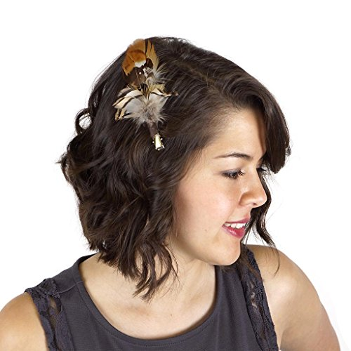 Zucker Feather (TM) - Feather Corsage-Pheasant-Partridge - Natural