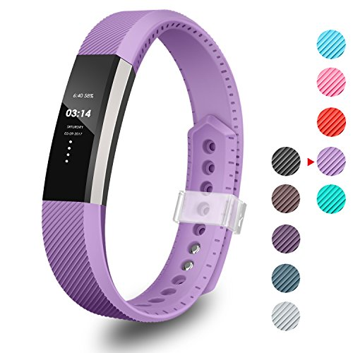 (GreenInsync Compatible Fitbit Alta Bands,Replacement for Fitbit Alta Band Large Accessory Bands for Fitbit Alta/Fitbit Alta HR/Fitbit Ace Wristbands with Ultrathin Fastener (Purple))