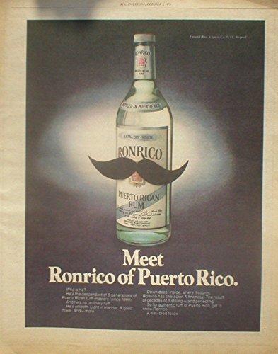 Ronrico Rum (**PRINT AD** For Ronrico Rum 1978 Moustache Magazine **PRINT AD**)