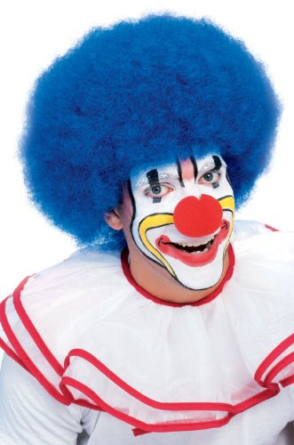 Rubie's Costume Deluxe Clown Wig, Blue, One (Adult Clown Wig)